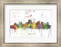 Richmond Virginia Skyline Multi Colored 1 Fine Art Print