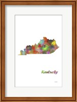 Kentucky State Map 1 Fine Art Print