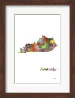 Kentucky State Map 1 Fine Art Print