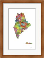Maine State Map 1 Fine Art Print