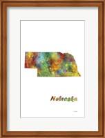 Nebraska  State Map 1 Fine Art Print