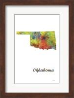 Oklahoma State Map 1 Fine Art Print