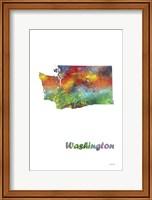 Washington State Map 1 Fine Art Print