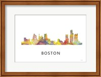 Boston Mas .Skyline Fine Art Print