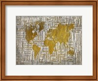 Map of the World Fine Art Print