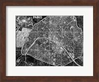 Paris Map BW Fine Art Print