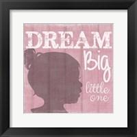 Dream Big Little One Girl Fine Art Print