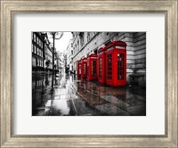 London Phone Booths Fine Art Print