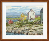 Fisherman's Houses Badger's Quay Fine Art Print