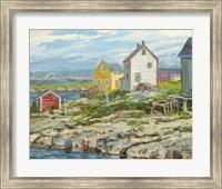 Fisherman's Houses Badger's Quay Fine Art Print