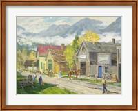 Low Clouds Fort Steele BC Fine Art Print