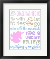Little Girl Typography Fine Art Print