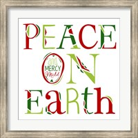 Peace on Earth on White Fine Art Print
