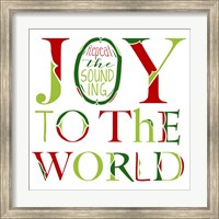 Joy to the World on White Fine Art Print