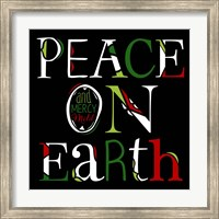 Peace on Earth on Black Fine Art Print
