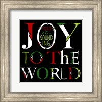 Joy to the World on Black Fine Art Print