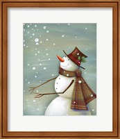 Christmas Magic Snowman Fine Art Print