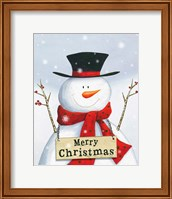 Merry Christmas Snowman Fine Art Print