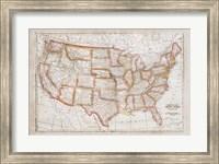 Map of USA Fine Art Print