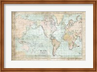 World Map Vintage 1913 Fine Art Print