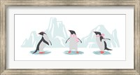 Minimalist Penguin Trio, Girls Fine Art Print