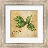 Basil on Burlap Fine Art Print