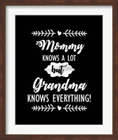 Grandma Knows Everything Fine Art Print