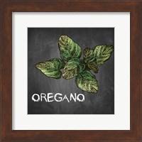 Oregano on Chalkboard Fine Art Print