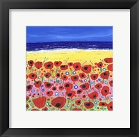 Poppies by the Beach Fine Art Print