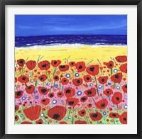 Poppies by the Beach Fine Art Print