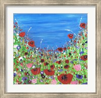 Roses And Poppies Fine Art Print