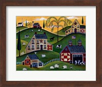 American Organic Herb  Sheep Cow Farmland Fine Art Print
