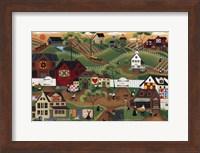 Amish Quilt Village Fine Art Print