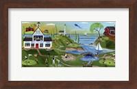 Golf Club Folk Art Fine Art Print