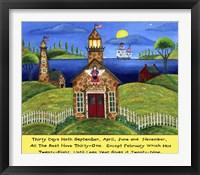 School Lighthouse Lang Fine Art Print