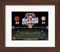 Clemson Tigers 2016 National Champions Fine Art Print