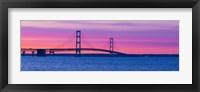 Mackinac Bridge at Sunset, Michigan Fine Art Print