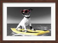 Pop of Color Surf's Up Dog Fine Art Print