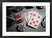 Pop of Color Poker Fine Art Print