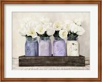 Tulips in Mason Jars Fine Art Print