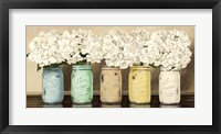 Hydrangeas in Mason Jars Fine Art Print