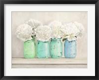 Peonies in Mason Jars Fine Art Print