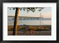 Mackinac Bridge, Mackinaw City Fine Art Print