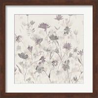 Garden Shadows III Purple Grey Fine Art Print
