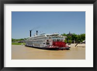 Mississippi, Vicksburg American Queen cruise paddlewheel boat Fine Art Print