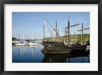 Mississippi Reproductions of Columbus ships the Nina and Pinta Fine Art Print
