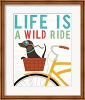 Beach Bums Dachshund Bicycle I Life Fine Art Print