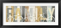 Beachscape Bicycle Family Gold Neutral Fine Art Print