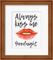 Lips - Kiss Me Goodnight Fine Art Print