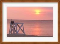 Massachusetts, Nantucket, Jetties Beach Lifeguard Fine Art Print